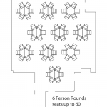 6 person rounds layout